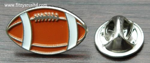 American Football / Rugby Ball Lapel Hat Cap Tie Pin Badge Gridiron Brooch New